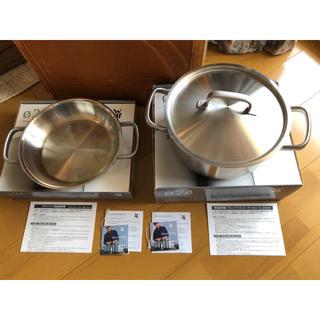 ヴェーエムエフ(WMF)のWMF グルメプラス 鍋2個セット 24cm 中古(鍋/フライパン)