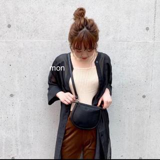 kastane♡シアーロングシャツ♡ブラック(シャツ/ブラウス(長袖/七分))
