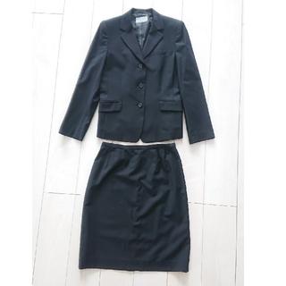 シマムラ(しまむら)のしまむら スーツ上下セット 黒ストライプ生地 15号(スーツ)