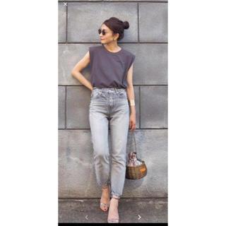 デミルクスビームス(Demi-Luxe BEAMS)のATONエイトンタンクトップTシャツ黒(Tシャツ(半袖/袖なし))
