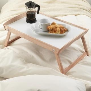 【新品】 IKEA DJURA ジューラ ベッドトレイ  ゴムノキ(折たたみテーブル)