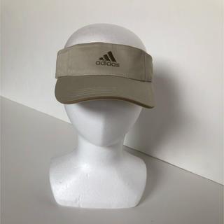 アディダス(adidas)の●アディダスadidas/サンバイザー 頭囲54~57cm ベージュ(サンバイザー)