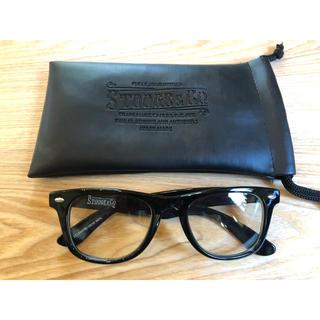 アズールバイマウジー(AZUL by moussy)の透明レンズ サングラス レザーメガネ用袋付き(サングラス/メガネ)