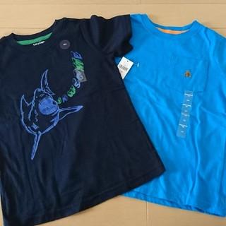 ベビーギャップ(babyGAP)の新品!半額以下!!100㎝ GAP 半袖 2枚組! 水色 紺色 格安(Tシャツ/カットソー)