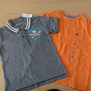 新品タグ付!半額以下!100㎝  GAP 半袖 グレー オレンジ(Tシャツ/カットソー)
