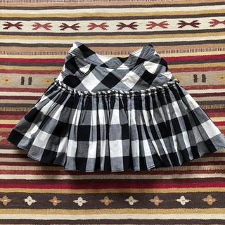 メゾピアノ(mezzo piano)のメゾピアノ mezzo piano スカート 140cm 春夏 白黒チェック(スカート)