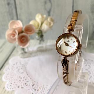 アガット(agete)の【動作OK】agete アガット 腕時計 シェル ピンクゴールド 0.005ct(腕時計)
