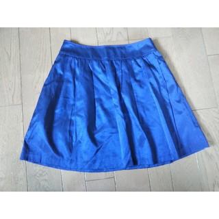 ナチュラルビューティーベーシック(NATURAL BEAUTY BASIC)のフレアスカート 青 ブルー(ひざ丈スカート)