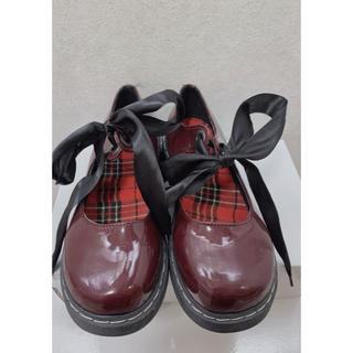 リズリサ(LIZ LISA)のガーリーリボンシューズ(ローファー/革靴)