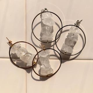 stone hoop pierce (ピアス)