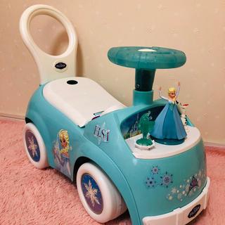 ディズニー(Disney)のアナと雪の女王、ライドオン、手押し車、エルサ (手押し車/カタカタ)