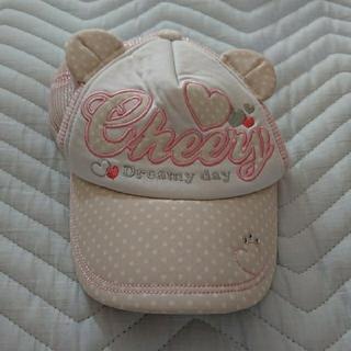 サンカンシオン(3can4on)の耳つき帽子 50㎝(帽子)