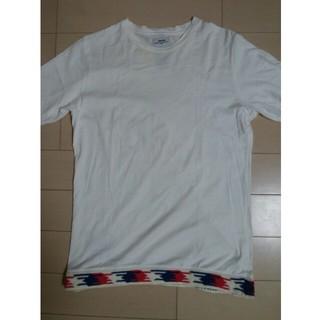 ヴィスヴィム(VISVIM)のvisvim(ビズビム) 裾ニット切替Tシャツ カラー:ホワイト系 サイズ:S(Tシャツ/カットソー(半袖/袖なし))