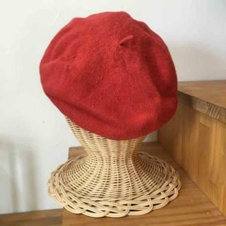 ビームスボーイ(BEAMS BOY)のBEAMS BOYビームスボーイ コットン ベレー帽 赤(ハンチング/ベレー帽)