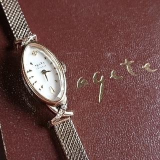 アガット(agete)の■出品20日まで■ agete classic K10 ダイヤ付 華奢ウォッチ(腕時計)