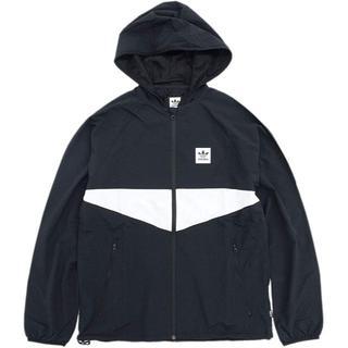アディダス(adidas)のアディダス DEKUM PACKABLE JACKET ブラックホワイト M(マウンテンパーカー)