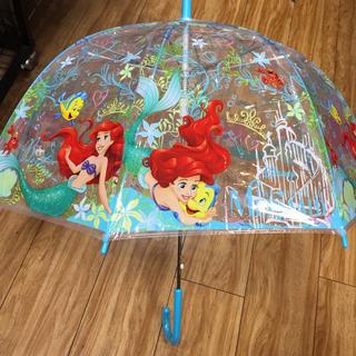 ディズニー(Disney)のディズニー アリエル 子供用ビニール傘 新品(傘)