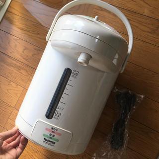 トウシバ(東芝)の電気保温ポット  plk-22da ホワイトベージュ(電気ポット)