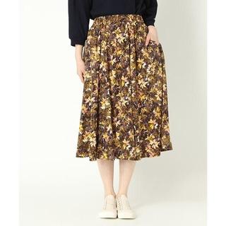 スタディオクリップ(STUDIO CLIP)のスタディオクリップ 花柄スカート フラワープリント 春夏 M(ひざ丈スカート)