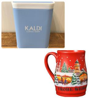 カルディ(KALDI)のカルディ  キャニスター缶&クリスマスカップ(容器)