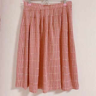 メリージェニー(merry jenny)のピンクリボン風スカート(ひざ丈スカート)