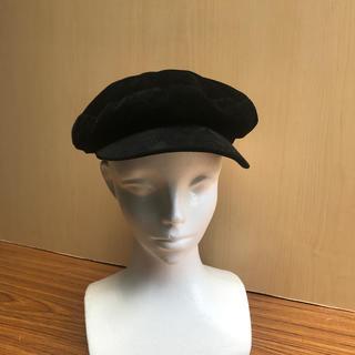 ザラ(ZARA)のZARA ハッチングキャップ BLACK(ハンチング/ベレー帽)