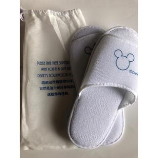 ディズニー(Disney)の香港ディズニー アメニティ スリッパ2足(スリッパ/ルームシューズ)