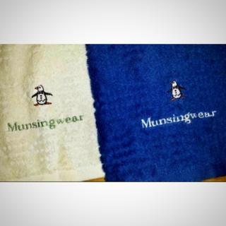 マンシングウェア(Munsingwear)の選ぶ一点 マンシング♪ゴルフ フェイスタオル ネイビー orホワイト  (タオル/バス用品)
