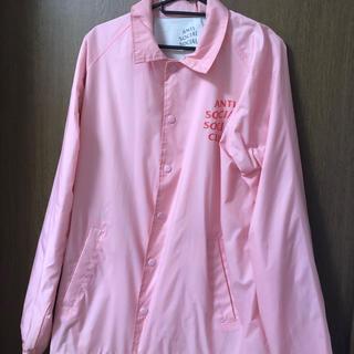 アンチ(ANTI)のASSC ピンク コーチジャケット (ナイロンジャケット)