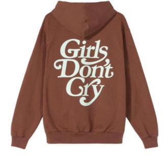 ジーディーシー(GDC)のgirls don't cry パーカー brown(パーカー)