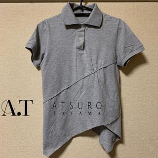 エーティー(A.T)の【極美品】A.T ホリゾンタルカラー変形デザインポロ(ポロシャツ)