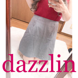 ダズリン(dazzlin)の1997.dazzlin 台形スカート 千鳥柄 チェック柄 ミニスカート(ミニスカート)