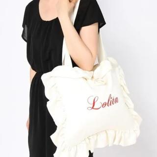 シロップ(syrup.)のsyrup. Lolita フリルピローバッグ サテン トートバッグ 刺繍(トートバッグ)