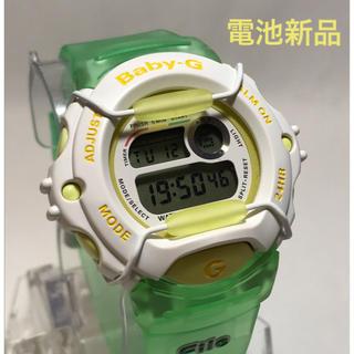 ベビージー(Baby-G)のBaby-g レディース 美品 電池新品 イエロー グリーン サーフィン カシオ(腕時計)
