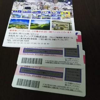 エーエヌエー(ゼンニッポンクウユ)(ANA(全日本空輸))の全日本株式優待券 二枚 プラス冊子(航空券)