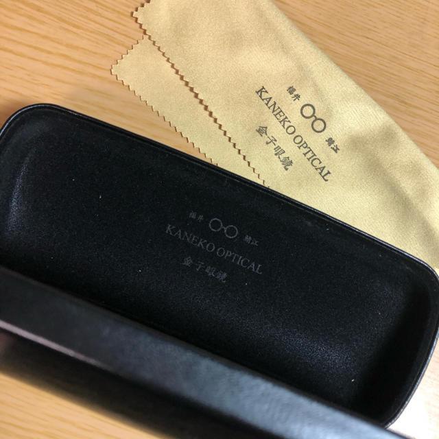 Ayame(アヤメ)の金子眼鏡 桐箱 ケース 眼鏡拭き セット メンズのファッション小物(サングラス/メガネ)の商品写真