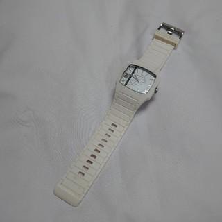 ディーゼル(DIESEL)のDIESEL ディーゼル 腕時計 ラバー ゴム DZ-1321 白 ホワイト(腕時計)