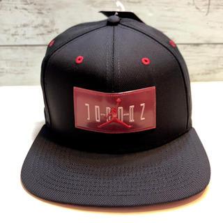 ナイキ(NIKE)のNIKE  ナイキ ジョーダン キャップ帽子 ◆ジャンプマン x ロゴ◆黒 新品(キャップ)