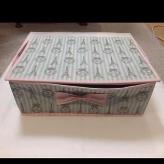 ディズニー(Disney)のエッフェル塔 収納ケース ボックス フランス 水色(ケース/ボックス)