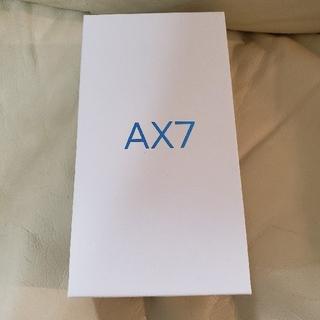 アンドロイド(ANDROID)のoppo ax7 楽天モバイル対応 ブルー(スマートフォン本体)