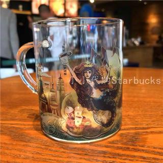 スターバックスコーヒー(Starbucks Coffee)のアニバーサリー ガラスコップ グラス 耐熱 マグカップ 台湾スターバックス 海外(グラス/カップ)
