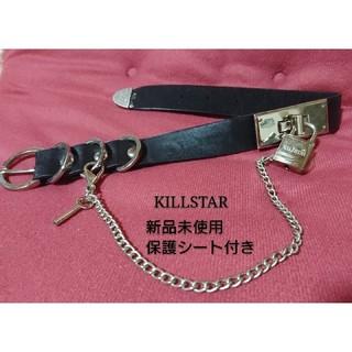 アンコロック(ankoROCK)の新品保護シート付き・KILLSTAR ロゴ入り南京錠チョーカー(ネックレス)