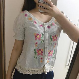 パラビオン(Par Avion)のパラビオン 花柄刺繍 トップス(Tシャツ(半袖/袖なし))