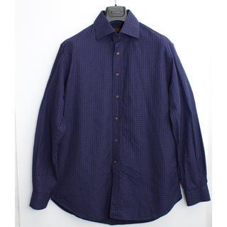 エトロ(ETRO)の[美品] エトロ 長袖シャツ L程度 ETRO ハンドステッチ チェックシャツ(シャツ)