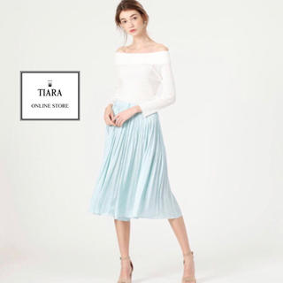 ティアラ(tiara)のTIARA フレアパンツ ミモレ丈 ミントグリーン(カジュアルパンツ)