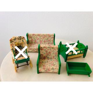エポック(EPOCH)のシルバニアファミリー 初期 緑家具 セット(その他)