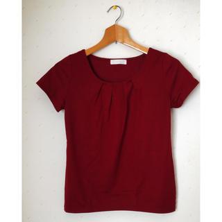 エニィスィス(anySiS)の【美品・お値引き応相談】anySiS カットソー Tシャツ 真紅(Tシャツ(半袖/袖なし))