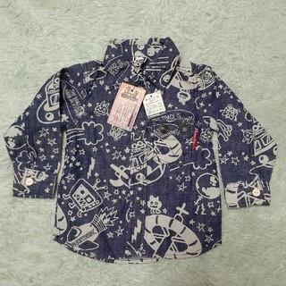 パーティーパーティー(PARTYPARTY)の新品PARTY PARTYシャツ 80cm(シャツ/カットソー)