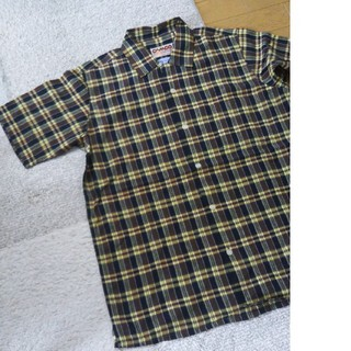 カムコ(camco)のLサイズ カムコ camco 半袖 チェックシャツ ブラウン 新品(シャツ)