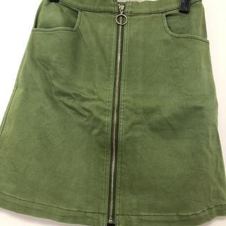 ミスティウーマン(mysty woman)のmysty woman ジップアップ台形スカート(ミニスカート)